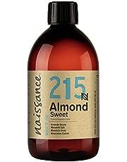 Naissance Natuurlijke amandelolie zoete (nr. 215) 500ml - veganistisch, vrij van genetische stoffen - ideaal voor haar- en lichaamsverzorging, voor aromatherapie en als basisolie voor massageoliën