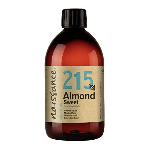 Naissance natürliches Mandelöl süß (Nr. 215) 500ml - Vegan, gentechnikfrei - Ideal zur Haar- und Körperpflege, für Aromatherapie und als Basisöl für Massageöle