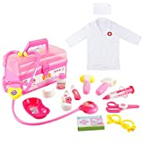 Fajiabao Medical Kits for Kids Doctor Play Set Dress Up Costumes Role Playing Game Cosplay...