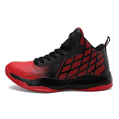 LFEU Basketball Schuhe Herren High Top Luftpolster Dämpfung Stabile Ferse Atmungsaktiv Outdoor Zwangsabnutzung Laufschuhe