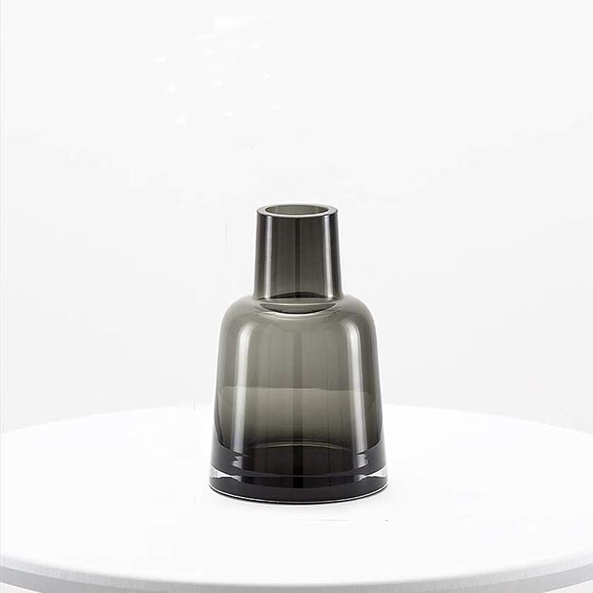 必要とするつらいシロナガスクジラSHWSM 花瓶リビングルームテーブルデコレーション花瓶透明ガラス瓶水耕植物コンテナ 花瓶 (Size : 4×14×9cm)