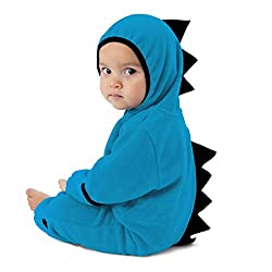 1. Cuddle Club Store Fleece Baby Bunting Dinosaur Onesie
