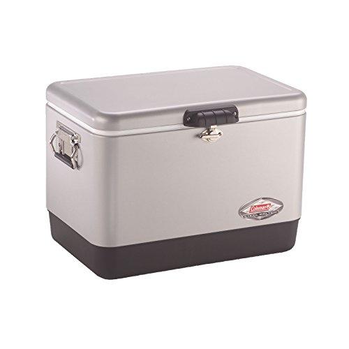 Coleman Steel-Belted Portable Cooler, 54 Quart, Silver