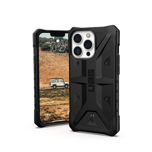 Urban Armor Gear Funda Pathfinder Compatible con el Apple iPhone 13 Pro [Compatible con Carga inalámbrica, Protección contra caídas de estándar Militar, Funda Ultrafina] Negro