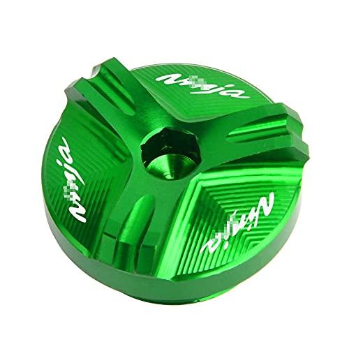 Tapón De Llenado De Aceite De Motor, Tapa De Tapón, Screwc para K-awasaki Ninja 250R 300 500R 600R 750R ZX750 ZX6R ZX10R ZX12R ZX14R Z750 Z1000 (Color : Verde)