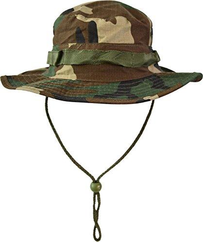 Australian Outdoor Hut Boonie Hat in vielen Farben und Grössen Farbe Woodland Größe M