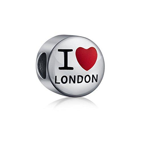 Io Amo Londra Travel World Vacanza Cordone Di Fascino Per Donne Per La Teen Argento 925 Si Adatta Braccialetto Europeo