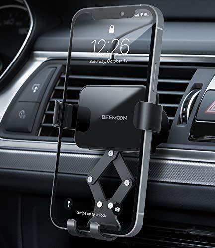 Beemoon Handy Autohalterung, Auto Vent Halterung - Universal Schwerkraft Handy KFZ Halterungen für iPhone 12 Mini, 12 Pro Max, 11 Pro, Xs Max, XR, X, 8, 7, Samsung S10 S9, Huawei, Smartphone