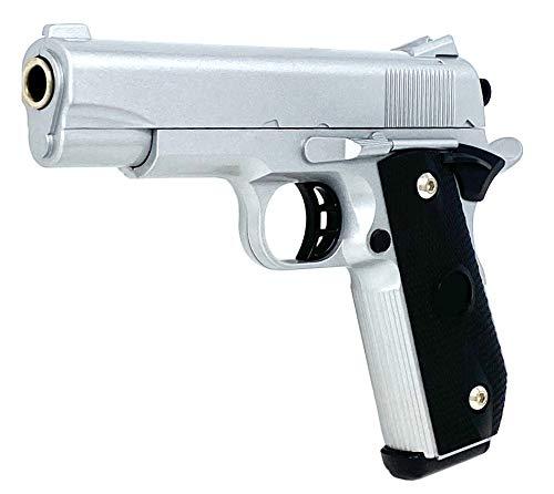 Softair Pistole Kids Toy Airsoft Gun Silver Metall Federdruck 0,5J