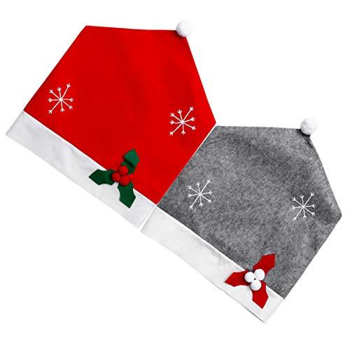 NUOBESTY Chaise de Noël Couvertures Arrière Chapeau de Père Noël Housses de Chaise de Salle à Manger de Pâques Décoration Vacances Enfants Chambre Animal Chaise Couverture Protecteur pour