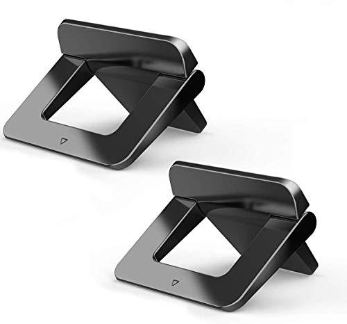 licheers Mini Laptop Ständer, tragbarer Tisch Laptopständer: unsichtbarer Notebook Halter Halterung Kompatibel mit Apple MacBook, Lenovo, HP, Acer, ASUS Notebook und mehr (2 Stücke)