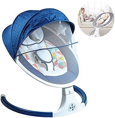 Bebé eléctrico Bebé, silla de mecedora inteligente con mosquitero swing swing swute inalámbrico Bluetooth Música Baby Comfort Silla WDH666