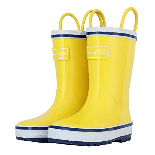 Product Image of the Toddler Rain Boots for Kids - CasaMiel Unisex Kids Rain Boots for Girls and...