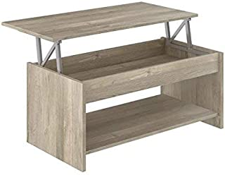 Marca Amazon - Movian Aggol Modern - Mesa de centro elevable con balda inferior 50 x 100 x 44 cm (Efecto Roble)