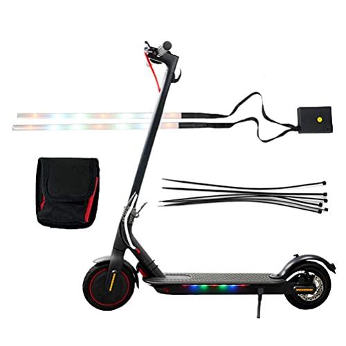 YsaAsaa Tiras de luz LED para patinete eléctrico, luz decorativa resistente al agua, compatible con Xiaom 9 scooter eléctrico, luz decorativa de chasis.