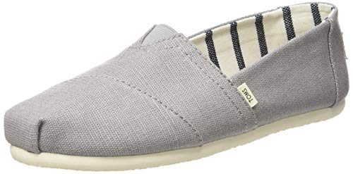 TOMS Women's Seasonal Classic Alpargata Morning Dove Heritage Canvas 6.5 M