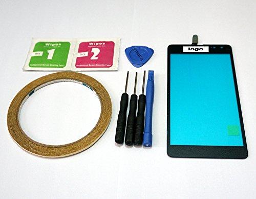 MIYI Nuevo Negro Pantalla Táctil Digitalizador Cristal Frontal Reemplazo para Nokia Mircosoft...