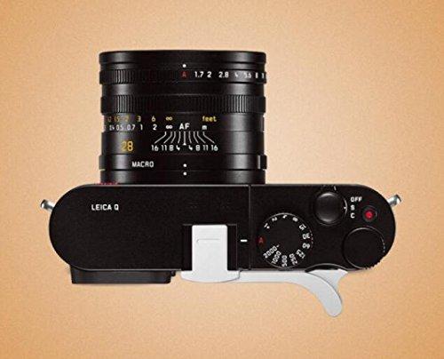 Ewoop Daumengriff aus Metall für Leica Q (Typ 116) für bessere Balance und Griffigkeit, Silber