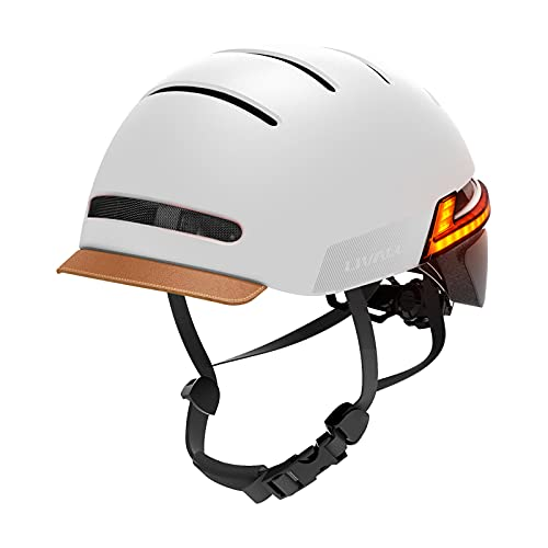 LIVALL Smart Adult Bike Helmet with Turn Signal Tail Lights & Rear LED Lights, Certified Comfortable Cycling Helmet with SOS Emergency Alert for Urban Commuter Men and Women