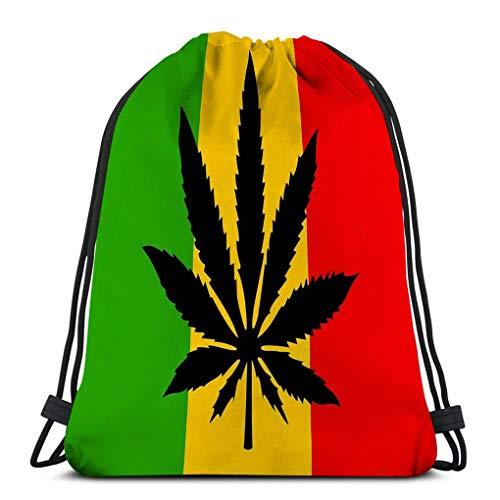 XCNGG Bolso clásico con cordón para hombre, mujer, mochila de gimnasio, bolsos de hombro, bolsa de almacenamiento deportiva, bandera rastaman, bandera rastafari, abstracto