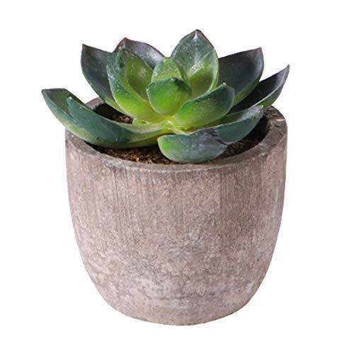 UPKOCH Künstliche Sukkulenten Pflanzen Set Kunstpflanze im Topf Grün Faux Töpfe Kaktus Bonsai Töpfchen Kunstblumen Büro Tischdeko für Schreibtisch Wohnzimmer Badezimmer Deko