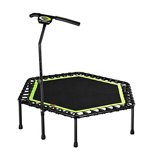 Lzww Upgrade Fitness Trampoline with Adjustable T-Bar Stability Handle 48Inch Indoor Trampoline for Adult Youth Gym, Office, Home Exercise