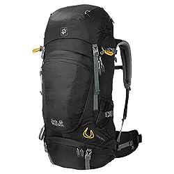 Jack Wolfskin Unisex Trekking Backpack Highland Trail XT 50, black, 63 x 33 x 13 cm, 50 liters, 2003021-6000