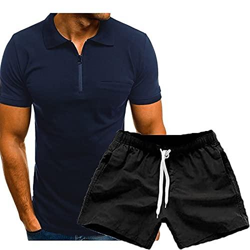 Mengove Ropa Deportiva Chándales Para Hombre Camisa Mangas Cortas Pantalon Chandales Hombre Cortos Conjunto Verano Gym Correr Trotar Caminar