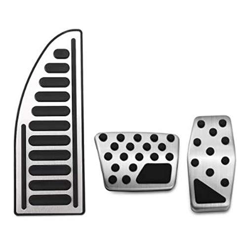 Pedales de acero inoxidable para acelerador de coche, pedales de freno, cubierta de apoyo para Jeep Renegade Compass Fiat 500X 2014-2020 (como en la foto)