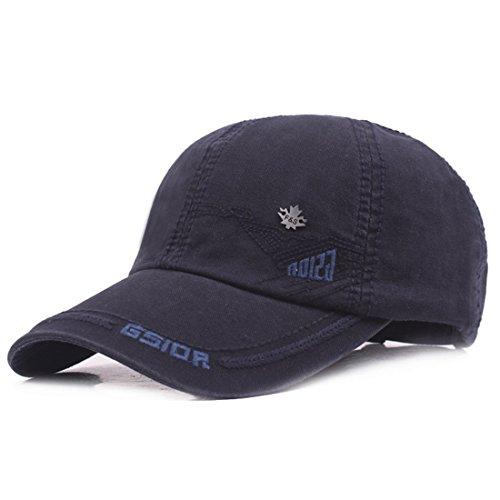 Kuyou Vintage Cotton Basecap Snapback Caps Outdoor Baseball Kappe Mütze, Navy, Einheitsgröße