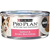 Purina Pro Plan Pate Wet Cat Food, Salmon & Brown Rice Entree - (24) 5.5 oz. Cans