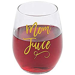 Mom Juice Wine Glass funny mothers day gift
