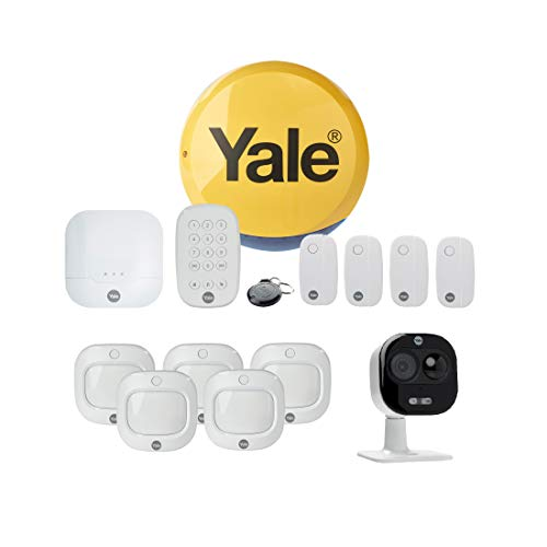 Yale All-In-One Smart Home Security Kit with IA-320 Sync Smart Home Alarm (works with Alexa), Extra Sensor Packs, All-In-One Indoor/Outdoor Camera 1080p, Remote Key Fob, 5 Piece Kit