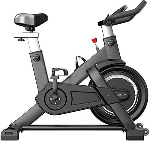 Spinning Bikes Ciclismo Deportes Equipo de Fitness Hogar Interior Fitness Ultra Silencioso Gran Volante Correa de Impulsión Negro-Negro