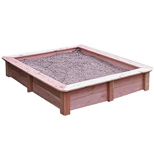 Sandkasten aus Lärchenholz, Außenmaß ca. 145x145 cm