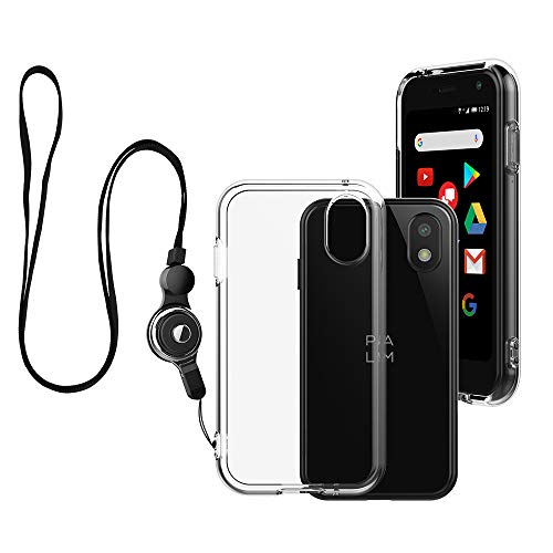 Foluu Palm Case, Palm Phone Case 2018 Transparent, Kratzfest TPU Gummi Soft Skin Silikon Schutzhülle Cover mit Lanyard für Verizon Palm Smartphone PVG100 (Pepito) 2018 (Crystal Clear)