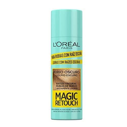 L´Oreal Paris Magic Retouch Spray, Retoca Raíces Oscuras para Cabellos Rubios Oscuros - Paquete de 3 x 100 ml - Total: 300 ml