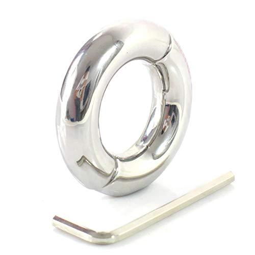 WWJ LE - Colgante de acero inoxidable resistente al agua para hombre, diseño de escrotal