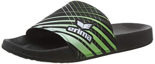 ERIMA Erilette, Unisex-Kinder Badeschuhe, Schwarz (schwarz/green/weiß 950637), 36 EU (3.5 UK)