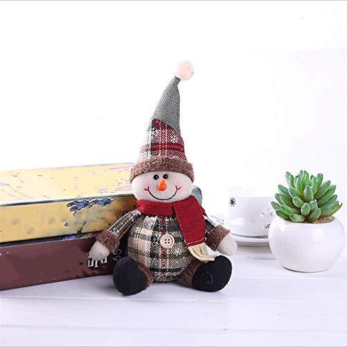SHJIA Adornos para Árboles De Navidad Muñeca De Navidad Niños Copo De Nieve Papá Noel para El Hogar Regalos De Año Nuevo 2Pcs