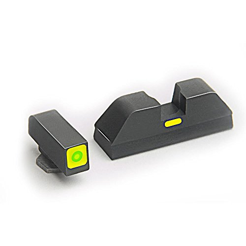 AmeriGlo Combative Application Pistol Sight Fits Glock 42 and 43, Green/Lime Green