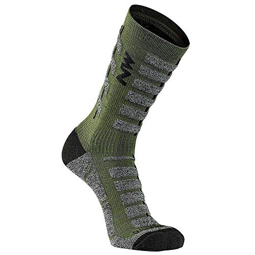 Northwave Husky Ceramic Tech Winter Fahrrad Socken grün 2021: Größe: M (40-43)