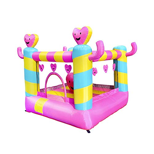 Inflatable Castle Children's Inflatable Small Trampoline Summer Indoor and Outdoor Large Inflatable Water Slide for Kids (Color : Pink, Size : 220x210x195cm)