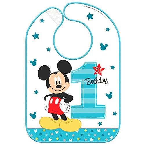 """Disney Mickey 's""""Fun To Be One"""" babero para bebé, cumpleaños, 12 unidades"""