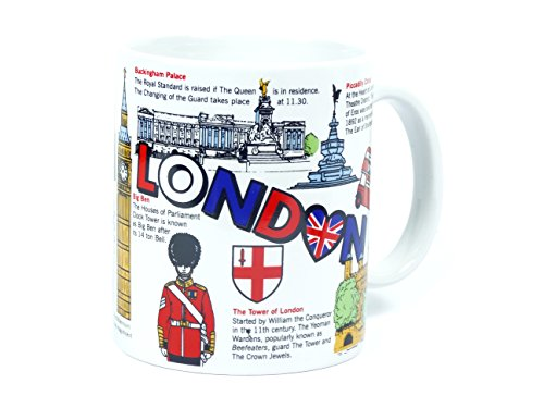 Porcelain Coffee Mug with London Heart and Facts...