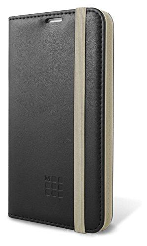 Moleskine-Custodia a Libro in Pelle Sintetica in PU Universale, 4, 6-5,2'per cellulari, Colore: Nero/Beige