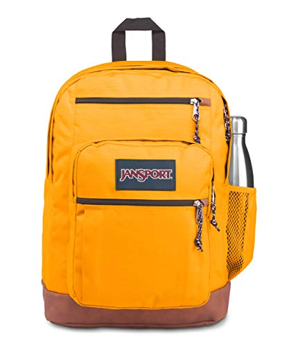 JanSport Cool Student 15-inch Laptop Backpack - Classic School Bag, Spectra Yellow
