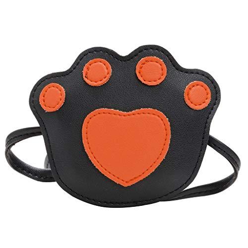 CommittedeSüße kleine Mädchen Umhängetasche Handtasche, Prinzessin Mini Taschen, Katzenkralle Cross Body Messenger Bag Fashion Change Umhängetasche