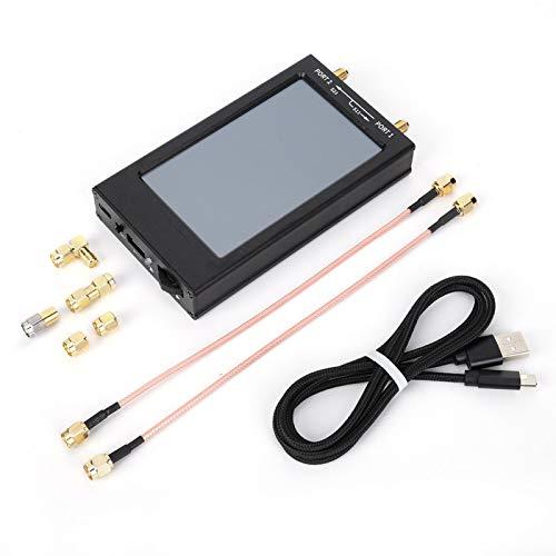 Analizador de redes vectoriales 50kHz-1500MHz, HF VHF UHF Analizador de antenas con pantalla IPS TFT LCD de 4.3 pulgadas que mide parámetros S, relación de onda estacionaria de voltaje