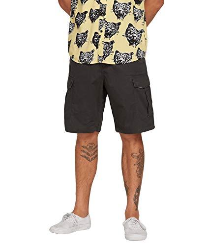 Volcom Pantalones Cortos para Hombre Miter Ll, Hombre, A0911903, Negro Vintage, 32